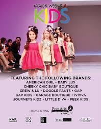 fashion week 4 kids announces fashion show lineup sponsored