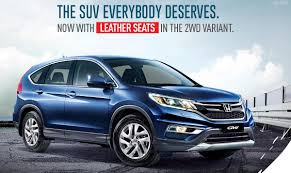honda suv 2016 honda cr v 2wd now with leather seats rm1k more