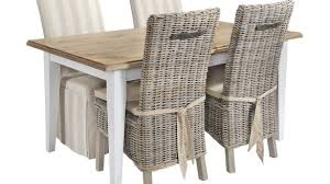 Dining Room Wicker Chairs Brilliant Chair Wicker Dining Chairs White Table Rattan