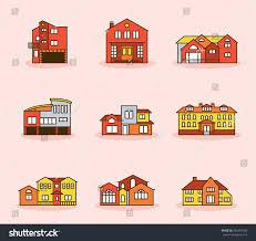 various types housing building vector illustration stock vector