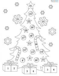 Decorate Christmas Tree Printable by Printable Advent Calendars