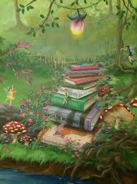 castle mural for little princess this is a close up of full wall enchanted forest bedroom mural book staircase with more mature books as you climb out of the fairy glen