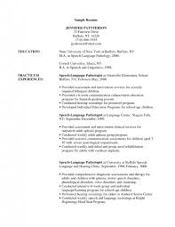 Sample Speech Pathologist Resume by Cover Letter Sample Speech Pathologist Resume Sample Resume For