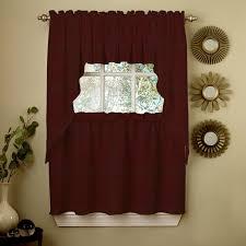 Maroon Wall Paint Interior Wonderful Aristocrat Jcpenney Kitchen Curtains For