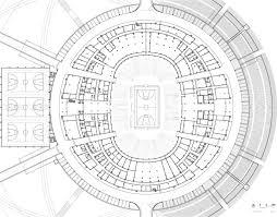 stadium floor plans gerkan marg and partners completes net like basketball stadium in