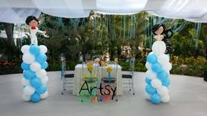 wedding arches singapore a pair of wedding balloon balloon column decoration