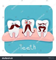 halloween background dental vector set funny teeth mustache dentistry stock vector 213972136