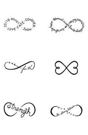 infinity tattoo with my three kids names love fashion