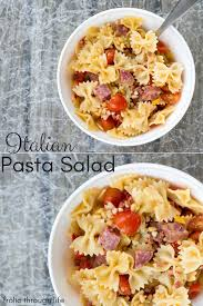 italian pasta salad frolic through life