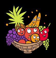 thanksgiving fruit basket clip thanksgiving happy excited fruit basket with fruit basket
