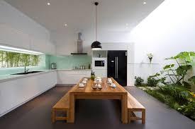 asian style kitchen tropical theme kitchen white sleek kicthen set