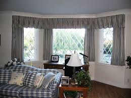 Living Room Curtain by Bathroom Curvy Window Treatment Ideas For Creamy Wall Color