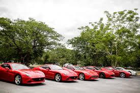 Ferrari California Green - ferrari californias visit the ancient city of ayutthaya