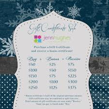 gift certificate sale jenn hughes photography