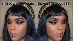 cleopatra halloween makeup halloween makeup egyptian goddess makeup youtube