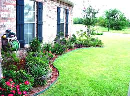 colorful simple landscaping flowers for small front yard pictures
