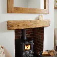 oak mantel shelf aged u0026 flamed rustic solid french beam
