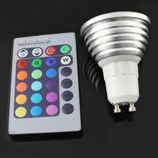 e27 gu10 mr16 rgb led spotlight bulb lamp 3w 16 color changeable