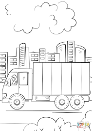 delivery truck coloring page free printable coloring pages