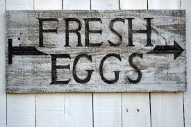 rustic wood signs fresh eggs sign vintage sign wood sign