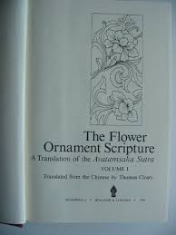 the flower ornament scripture written by cleary stock