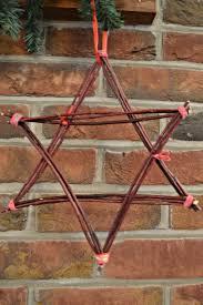a christmas star made from dogwood christmas craft kidsinthegarden