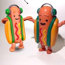 Hot Dog Meme - 3d printable snapchat dancing hotdog meme by jon cleaver