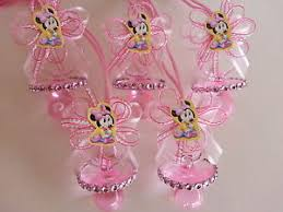 baby shower pacifiers 12 minnie mouse pink pacifier necklaces baby shower favors