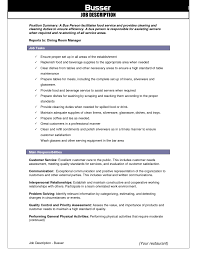 waitress hostess resume sample job and resume template