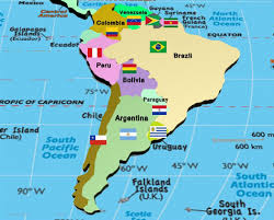 South America Physical Map by Map Of South America South America Countries Rough Guides Highly