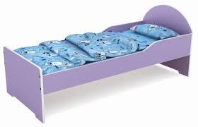 Purple Cartoon Wood Baby Bedpreschool Kids Bedroom Furniture - Non toxic bedroom furniture