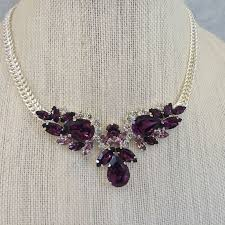 amethyst crystal necklace images Swarovski amethyst pendant necklace the crystal rose bridal jpg