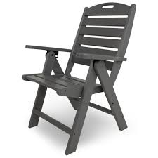 polywood nautical high back reclining folding chair
