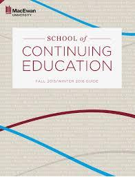 macewan university continuing education guide fall 2015 winter