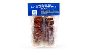 cuisiner queue de langoustes crues surgel馥s 2 queues de langouste australe crues surgelés les poissons