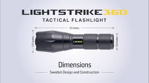 tac light flash light lightstrike 360 tactical flashlight video presentation product