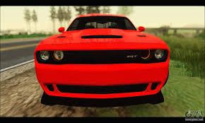 hellcat challenger 2015 dodge challenger srt hellcat 2015 for gta san andreas