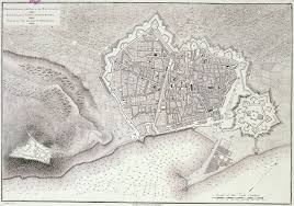 Map Of Barcelona The Walled City Of Barcelona And The Citadel 1806
