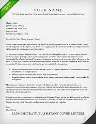 sample administrative assistant cover letter cover letter sample