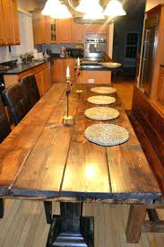 rustic wood dining room table full circle