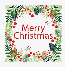 the pine needle christmas frame vector png christmas christmas