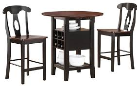 High Dining Room Sets by Homelegance Atwood 3 Piece Drop Leaf Counter Height Dining Room
