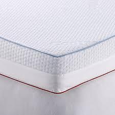 therapedic 4 inch dual season mattress topper in white bed bath