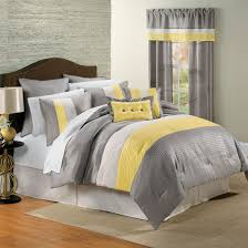 White Master Bedroom Yellow White Grey And Black Bedding I Love This Color Scheme