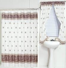 bathroom gray window curtain with flower design tricks bathroom matching window curtains with bathtub curtain design vinyl