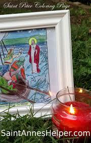 jesus walking on water coloring page