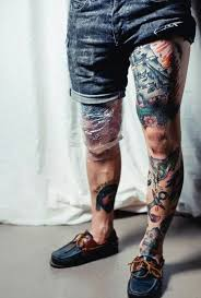 50 traditional leg tattoos for design ideas