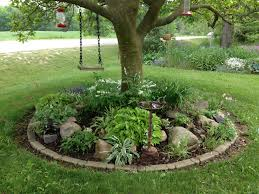 garden ideas trees finest rockery around tree with different