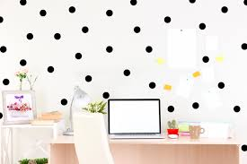black polka dot wall decal chic home decor bedroom wall zoom
