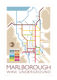 underground map marlborough wine underground map memento maps